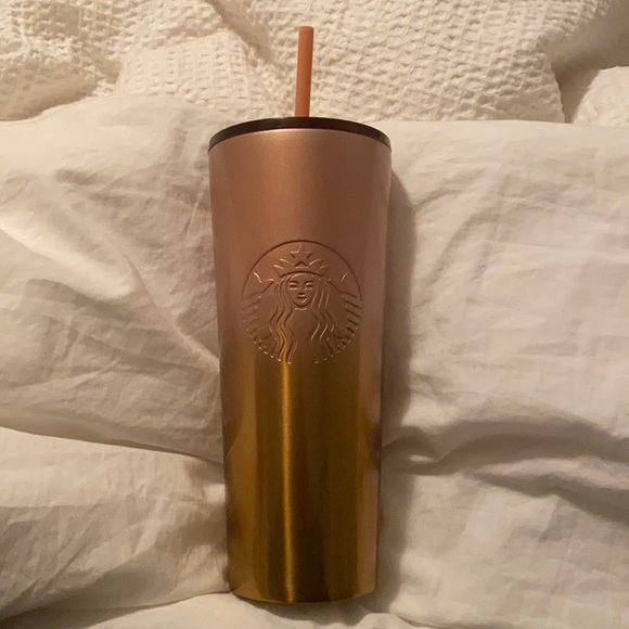 NWT Starbucks Pink/Gold Ombre Tumbler